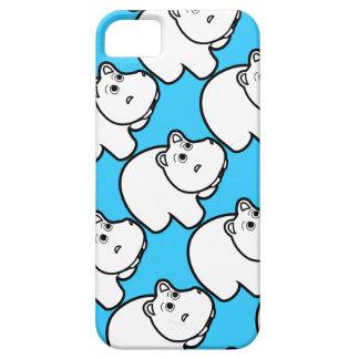 Cute Blue Hippo iPhone 5 Cover