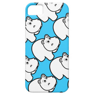 Cute Blue Hippo Case For The iPhone 5