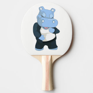 CUTE BLUE HIPPO PING PONG PADDLE