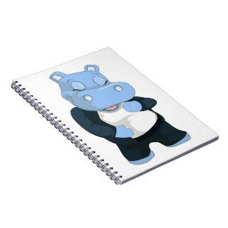 CUTE BLUE HIPPO SPIRAL NOTEBOOK