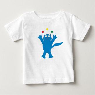Cute Blue Juggling Cartoon Cat Tees