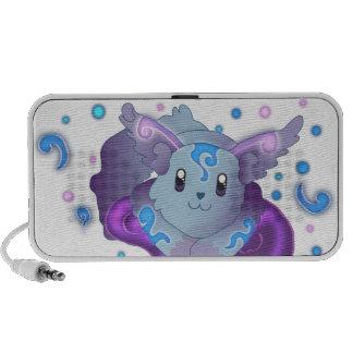 Cute Blue Kawaii Frozen Flame Fox Travel Speaker