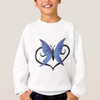 cute blue love butterfly sweatshirt