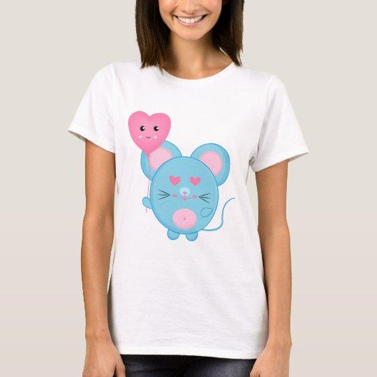 Cute Blue Mouse T-Shirt