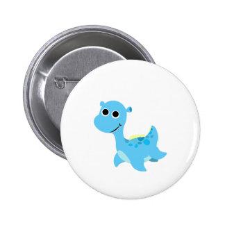 Cute Blue Nessie 2 Inch Round Button
