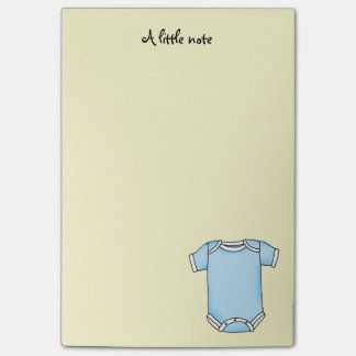 cute blue new baby boy cloth baby shower post-it notes