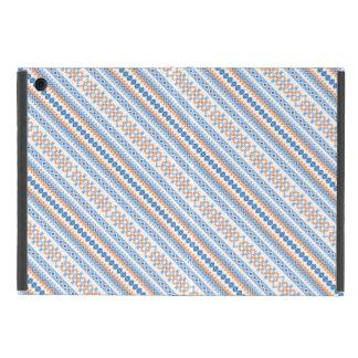 Cute blue orange Aztec Tribal Motif Pattern Cover For iPad Mini