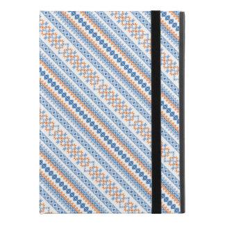 """Cute blue orange Aztec Tribal Motif Pattern iPad Pro 9.7"""" Case"""