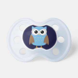 Cute Blue Owl Binky Pacifier