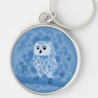 Cute Blue Owl Keychain