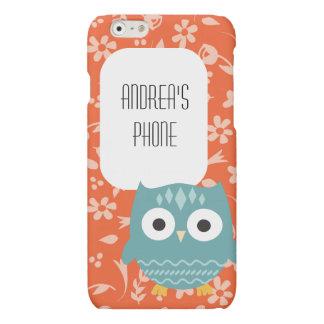 Cute Blue Owl Personalized Phone Case