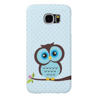 Cute Blue Owl Samsung Galaxy S6 Cases