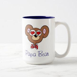 Cute Blue Papa Bear Coffee Mug