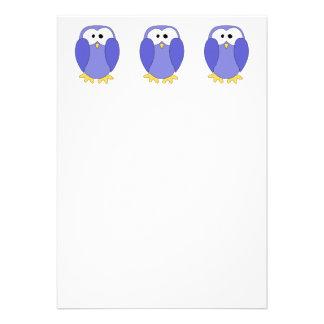 Cute Blue Penguin Penguin Cartoon Personalized Announcements