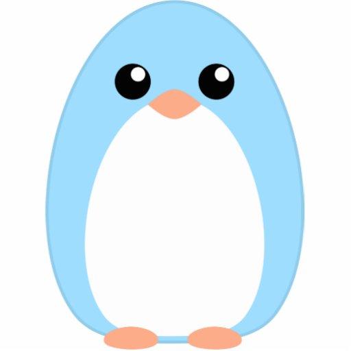 Cute Blue Penguin Photo Cut Outs