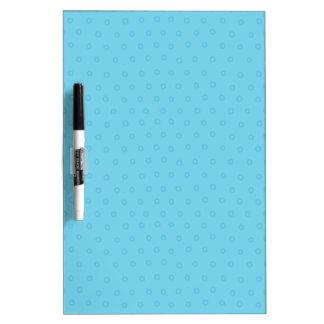 Cute Blue Polka Dots Dry Erase Message Board Dry-Erase Boards