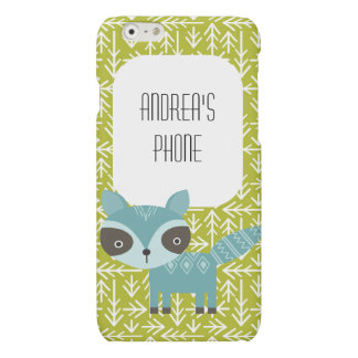 Cute Blue Raccoon Personalized Phone Case