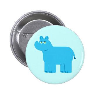 Cute Blue Rhino 2 Inch Round Button