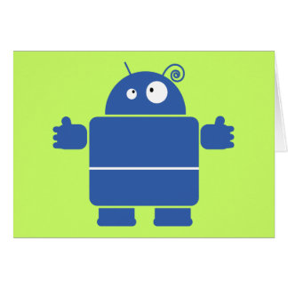 Cute Blue Robot Greeting Card