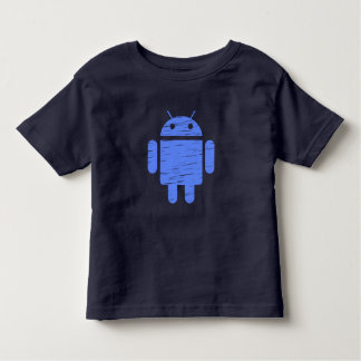 Cute Blue Robot Toddler T-shirt