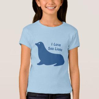 Cute blue Sea Lion love T-Shirt