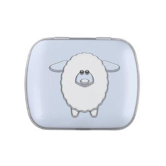 Cute Blue Sheep Baby Boy Shower Candy
