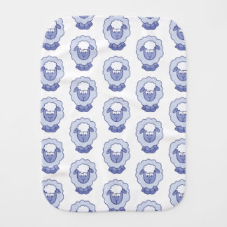 Cute Blue Sheep Burp Cloth