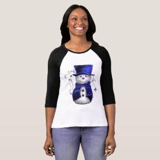 Cute Blue Snowman T-Shirt