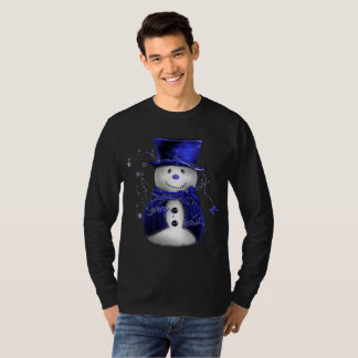 Cute Blue Snowman T-Shirt