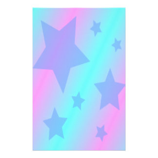 Cute Blue Stars Stationery