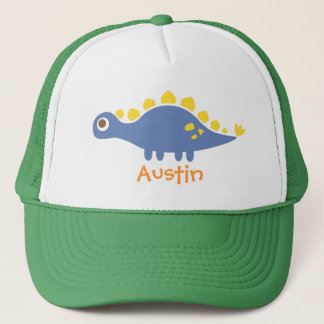Cute Blue Stegosaurus Dinosaur For Trucker Hat