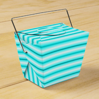 Cute Blue Striped Take Out Box Party Favor Boxes