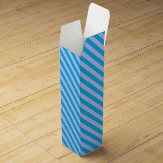 Cute blue stripes patterns wine boxes
