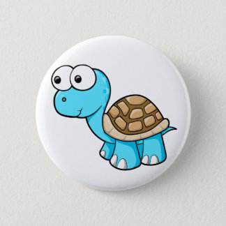 Cute Blue Turtle Button