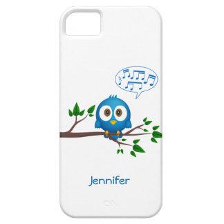 Cute blue twitter bird cartoon case for the iPhone 5