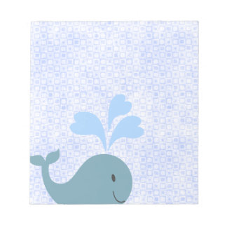 Cute Blue Whale Graphic Notepad