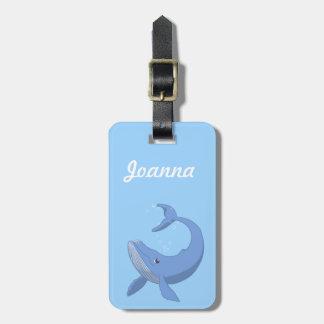 Cute Blue Whale Luggage Tag