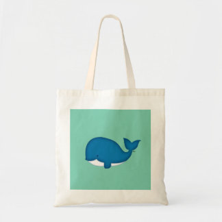 Cute Blue Whale Tote Bag