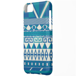 Cute Blue & White Aztec Iphone 5 Case