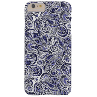 Cute blue white paisley patterns design barely there iPhone 6 plus case
