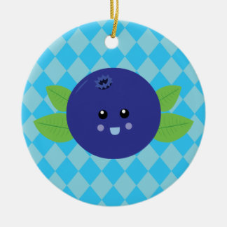 Cute Blueberry Ceramic Ornament