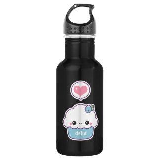 Cute Blueberry Cupcake 532 Ml Water Bottle