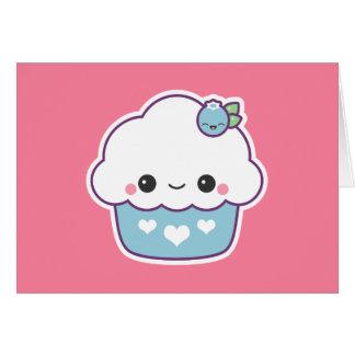 Cute Blueberry Cupcake Card