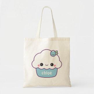 Cute Blueberry Cupcake Tote Bag