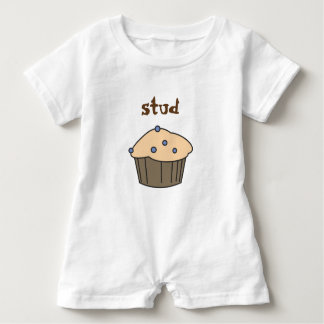 Cute  Blueberry Stud Muffin Baby Boy Romper