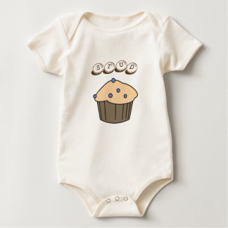 Cute Blueberry Stud Muffin Organic Baby Bodysuit