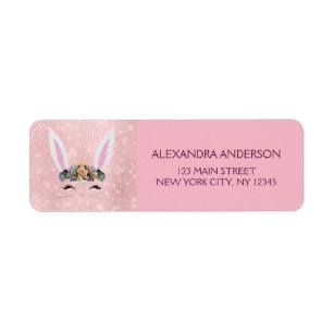 Pink gold eggs easter gifts on zazzle ca cute blush pink sparkle easter bunny negle Image collections
