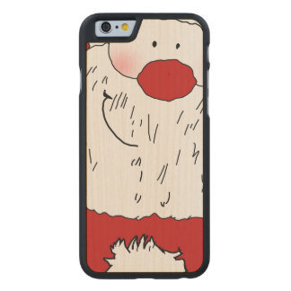 Cute Blushing Santa Carved Maple iPhone 6 Case
