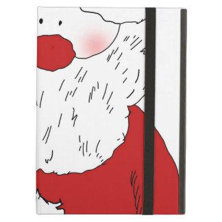 Cute Blushing Santa iPad Air Cases