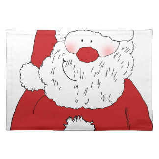 Cute Blushing Santa Placemat